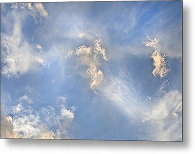 Metal Print featuring the photograph Dancing Clouds by Wanda Krack