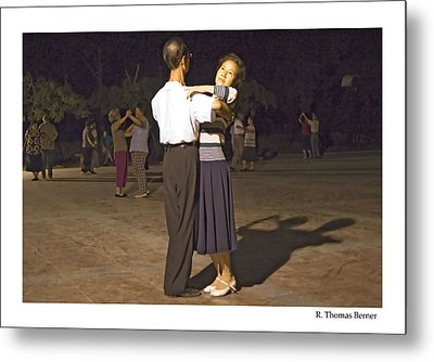 Metal Print featuring the photograph Dancing Couple by R Thomas Berner