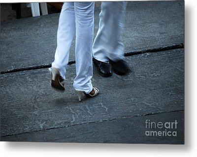 Dancing Feet At The Dominican Republic Son Party Number One Metal Print