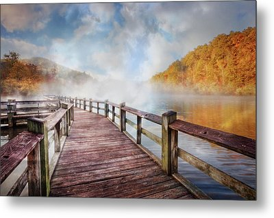 Metal Print featuring the photograph Dancing Fog At The Lake by Debra and Dave Vanderlaan