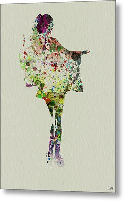 Dancing Geisha Metal Print by Naxart Studio