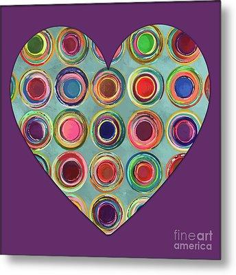 Dancing In Circles Heart Metal Print by Carla Bank