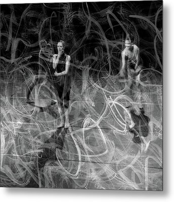Dancing In The Dark Metal Print by Martina Rall