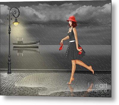 Dancing In The Rain Metal Print by Monika Juengling