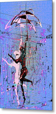 Dancing In The Rain Metal Print by Tony Marquez