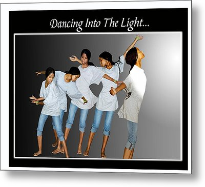 Dancing Into The Light Metal Print by Richard Gordon