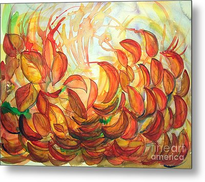 Dancing Leaves Metal Print by Vanda Sucheston Hughes