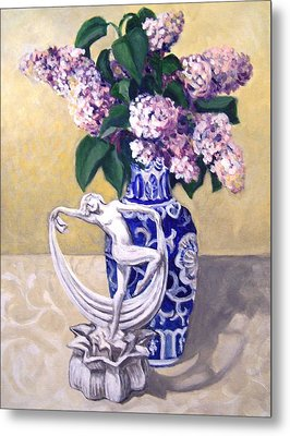 Dancing Lilacs Metal Print by Laura Aceto