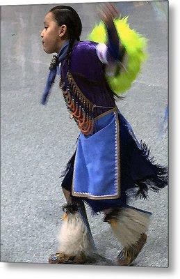 Dancing Native Child Metal Print