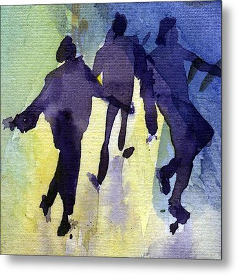 Dancing People Metal Print by Natalia Eremeyeva Duarte