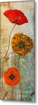 Dancing Poppies II Metal Print
