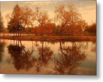 Dancing Trees - Lake Carasaljo Metal Print