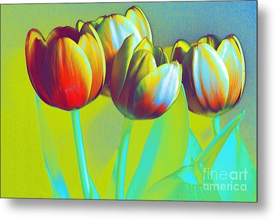 Dancing Tulips Metal Print