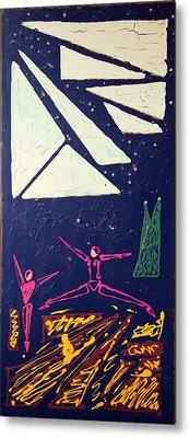Metal Print featuring the mixed media Dancing Under The Starry Skies by J R Seymour