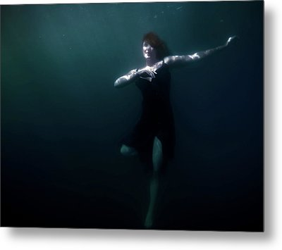 Metal Print featuring the photograph Dancing Under The Water by Nicklas Gustafsson