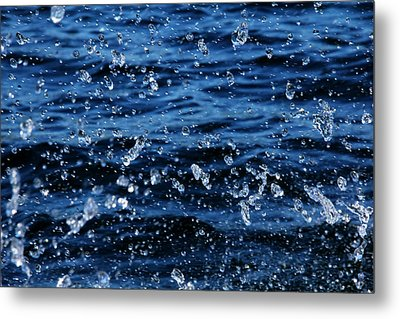 Dancing Water Metal Print by Debbie Oppermann