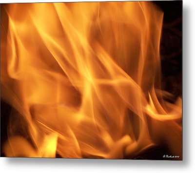 Metal Print featuring the photograph Dancing With Fire by Betty Northcutt