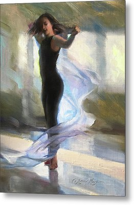 Dancing With Gossamer Metal Print by Anna Rose Bain