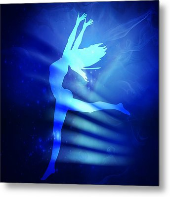 Dancing Woman Metal Print by Serena King