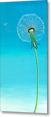 Dandelion Metal Print by David Junod