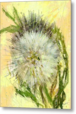Dandelion Sunshower Metal Print