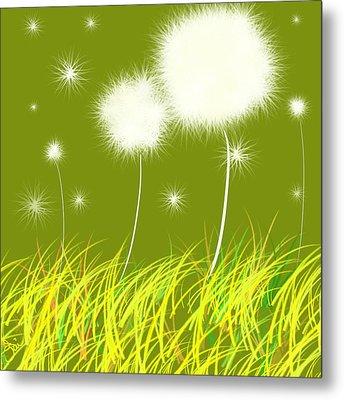 Dandelions Are Free Metal Print