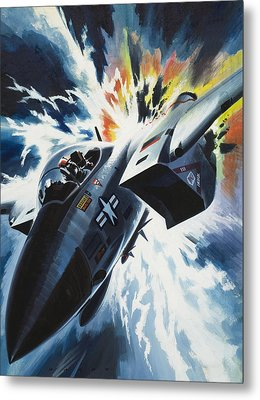 Danger From The Skies Metal Print by Wilf Hardy