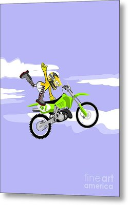 Dangerous Motocross Extreme Jump Metal Print