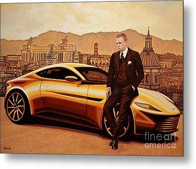 Daniel Craig As James Bond Metal Print