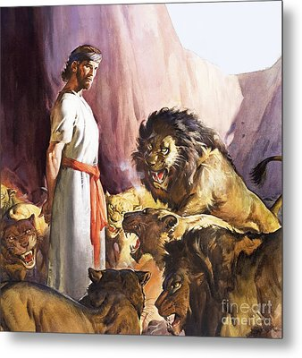 Daniel In The Lions' Den Metal Print