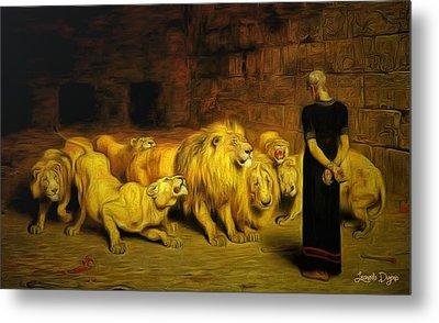 Daniel In The Lions' Den Metal Print by Leonardo Digenio
