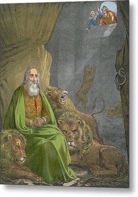 Daniel In The Lions' Den Metal Print by Siegfried Detler Bendixen