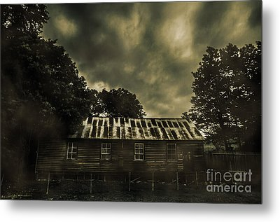 Dark Abandoned Barn Metal Print by Jorgo Photography - Wall Art Gallery