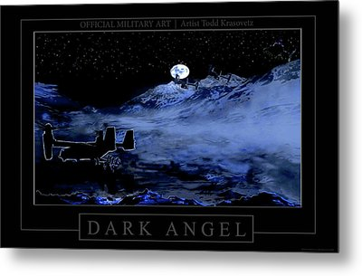 Dark Angel Metal Print by Todd Krasovetz