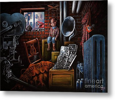Metal Print featuring the painting Dark Exile by Michael Frank