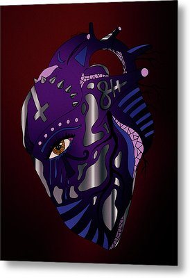 Dark Heart Metal Print by Kenal Louis