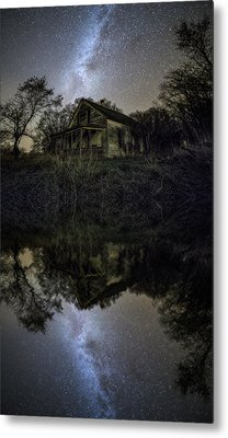 Metal Print featuring the photograph Dark Reflection by Aaron J Groen