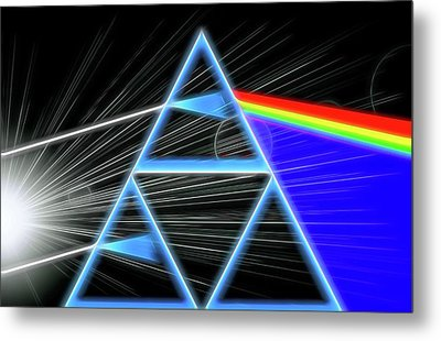 Metal Print featuring the digital art Dark Side Of The Moon by Dan Sproul