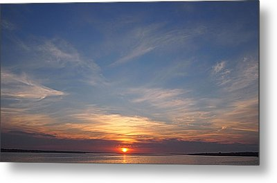 Metal Print featuring the photograph Dark Sunrise by  Newwwman