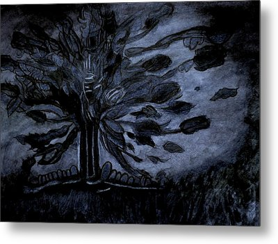 Dark Tree Metal Print by Stephanie Zelaya