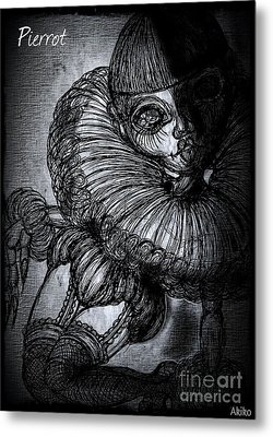 Darkness Clown Metal Print