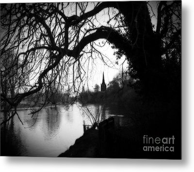 Metal Print featuring the photograph Darkness Looms Over The Avon by Sue Melvin
