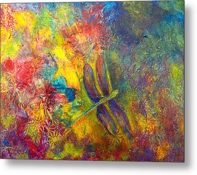 Darling Dragonfly Metal Print by Claire Bull