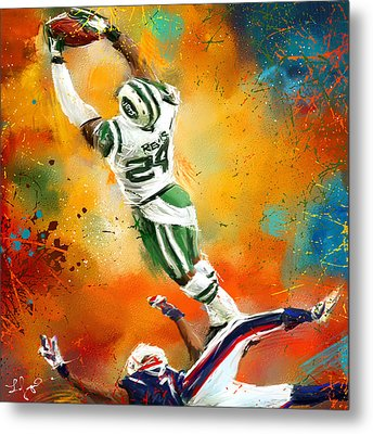 Darrelle Revis Action Shot Metal Print by Lourry Legarde