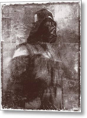 Darth Vader Abstract Xiii Metal Print by Aurelio Zucco