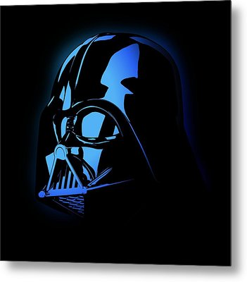 Darth Vader Invader Star Wars Metal Print by Deadly Swag