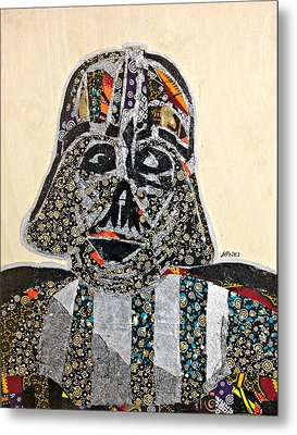 Darth Vader Star Wars Afrofuturist Collection Metal Print by Apanaki Temitayo M