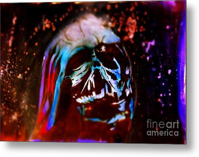 Darth Vader's Melted Helmet Metal Print