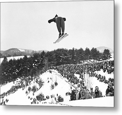 Dartmouth Carnival Ski Jumper Metal Print by Underwood Archives