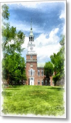 Dartmouth College Watercolor Metal Print by Edward Fielding